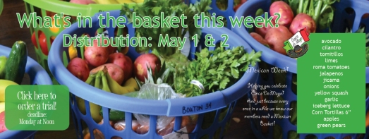 What's in the Basket the first week of May?